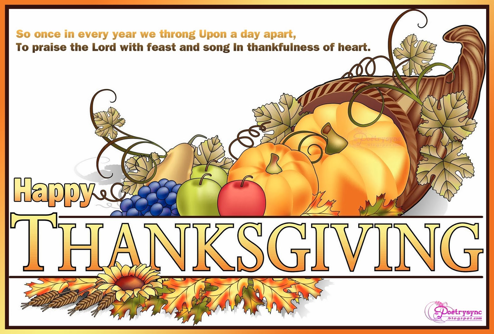 Thanksgiving Day Wishes Quotes Sayings Messages Sms