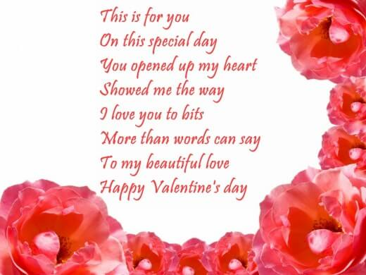 Valentines Day Greeting Wishes For Girlfriend. U201c