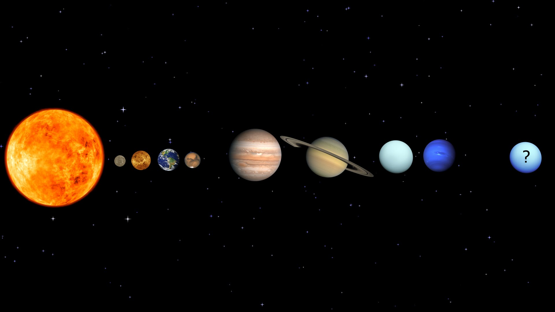 outer planets of the solar system - HD1920×1080