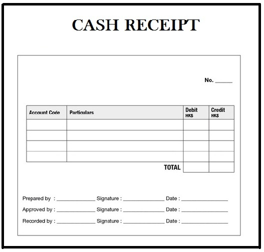 Cash Receipt Definition  Money Receipt Template