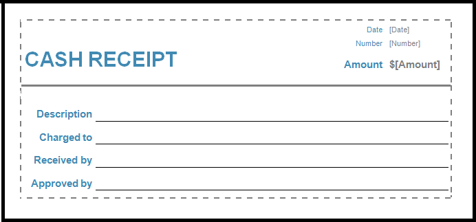 Receipt Format  Cheque Receipt Template