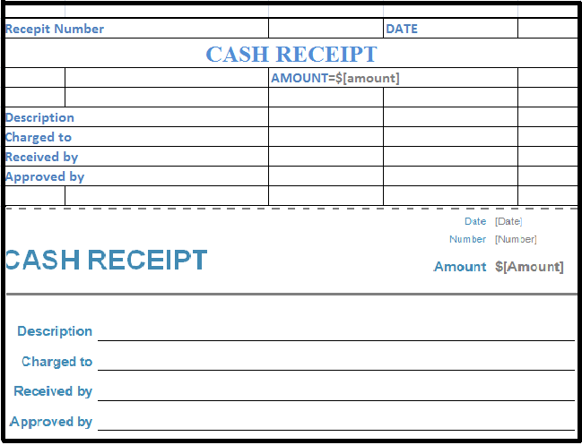 cash receipt voucher - Free Cash Receipt Template
