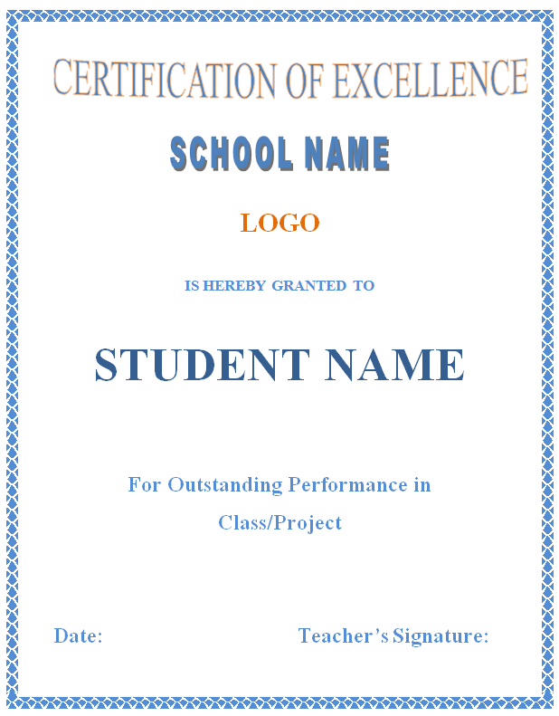 Free Printable Certificates Templates Word Sample – Certificates in Word