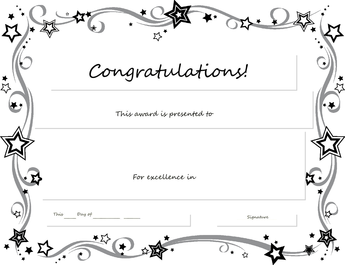 Free Printable Certificates Templates Word Sample – Certificate of Excellence Template Word