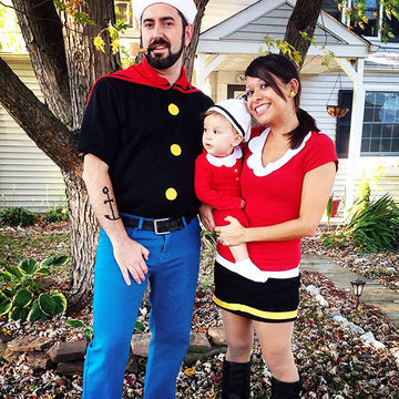 Couple and Baby Halloween Costumes