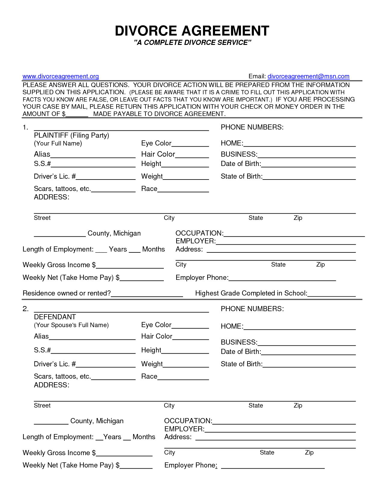 Fake Divorce Papers Pdf Worksheet to Print – Printable Fake Divorce Papers