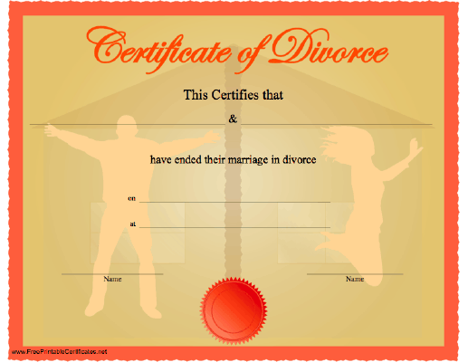 Fake Divorce Papers Prank Idea Fake Divorce Certificate