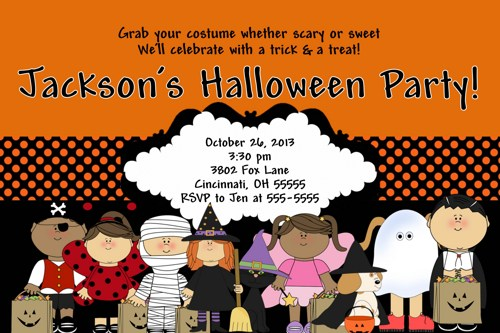 Halloween Birthday Invitations | Halloween Birthday Party Ideas ...