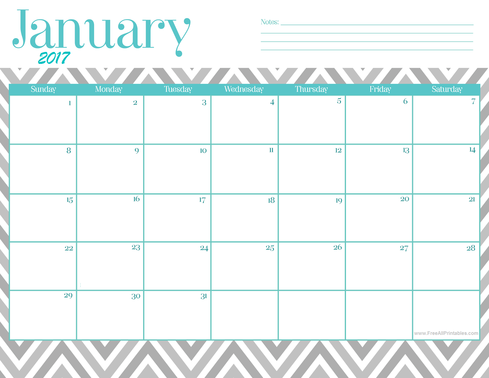 free january calender