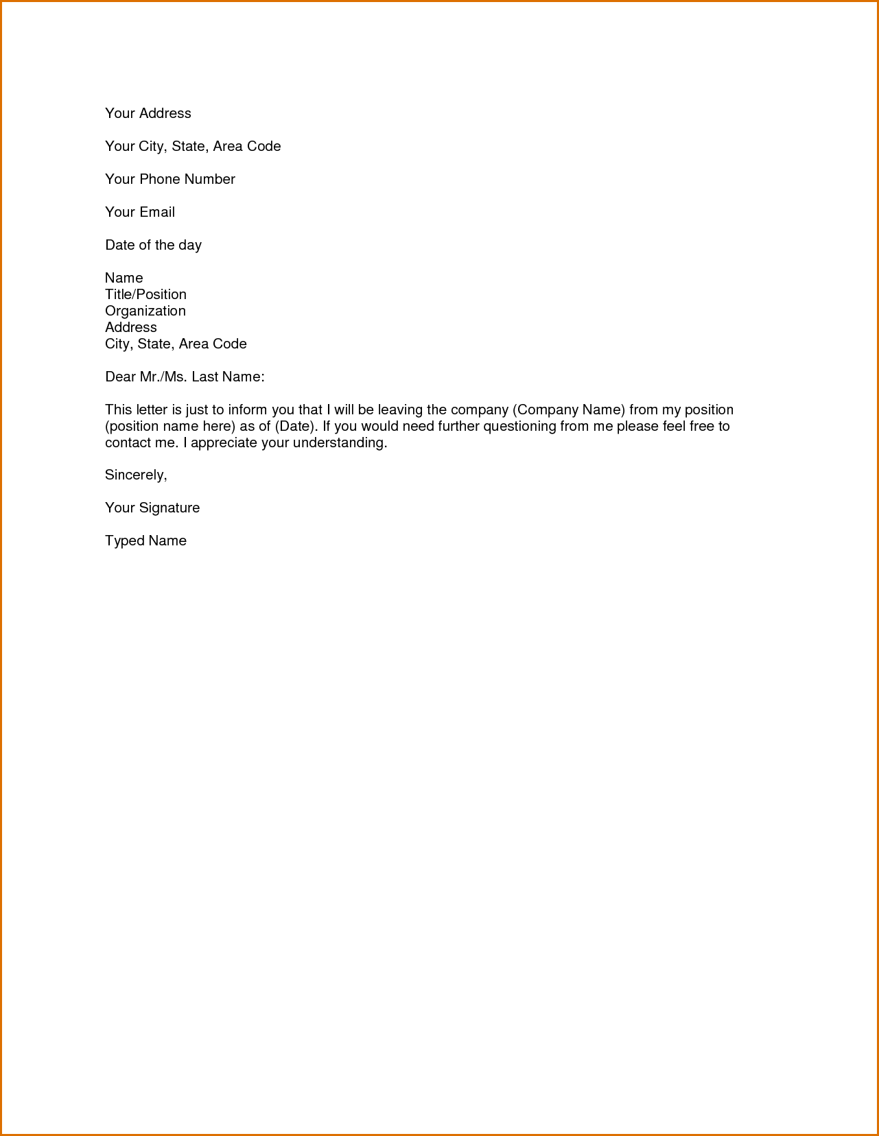 Formats Of Business Letter Template Word  Pdf  Business Template