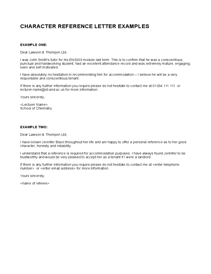 7 top character reference letter template character reference who can be a character reference altavistaventures Images