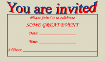 Free Invitation Templates for Excel
