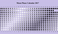 Printable Moon Phase Calendar 2017