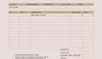 Purchase Order Format in Word