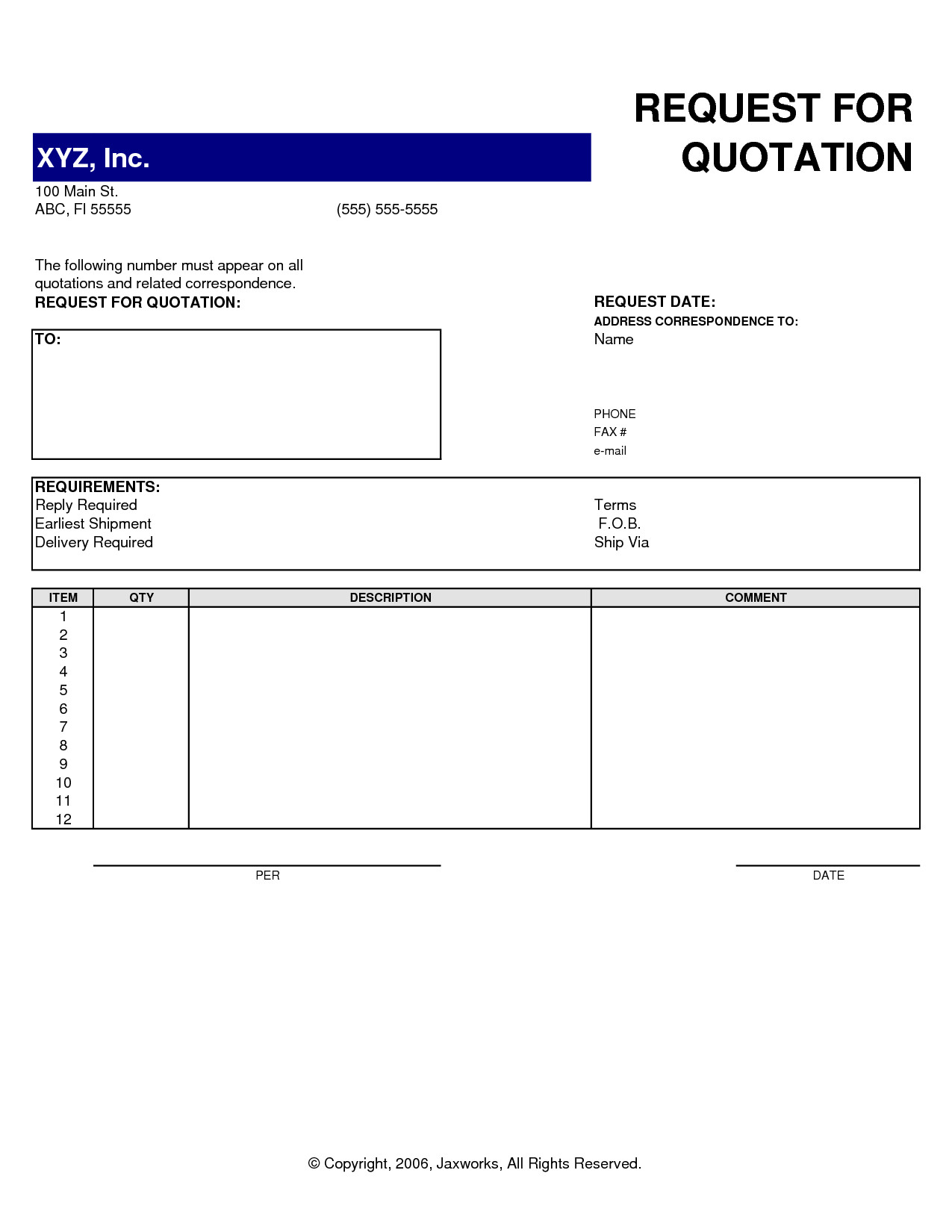Professional Quotation Template