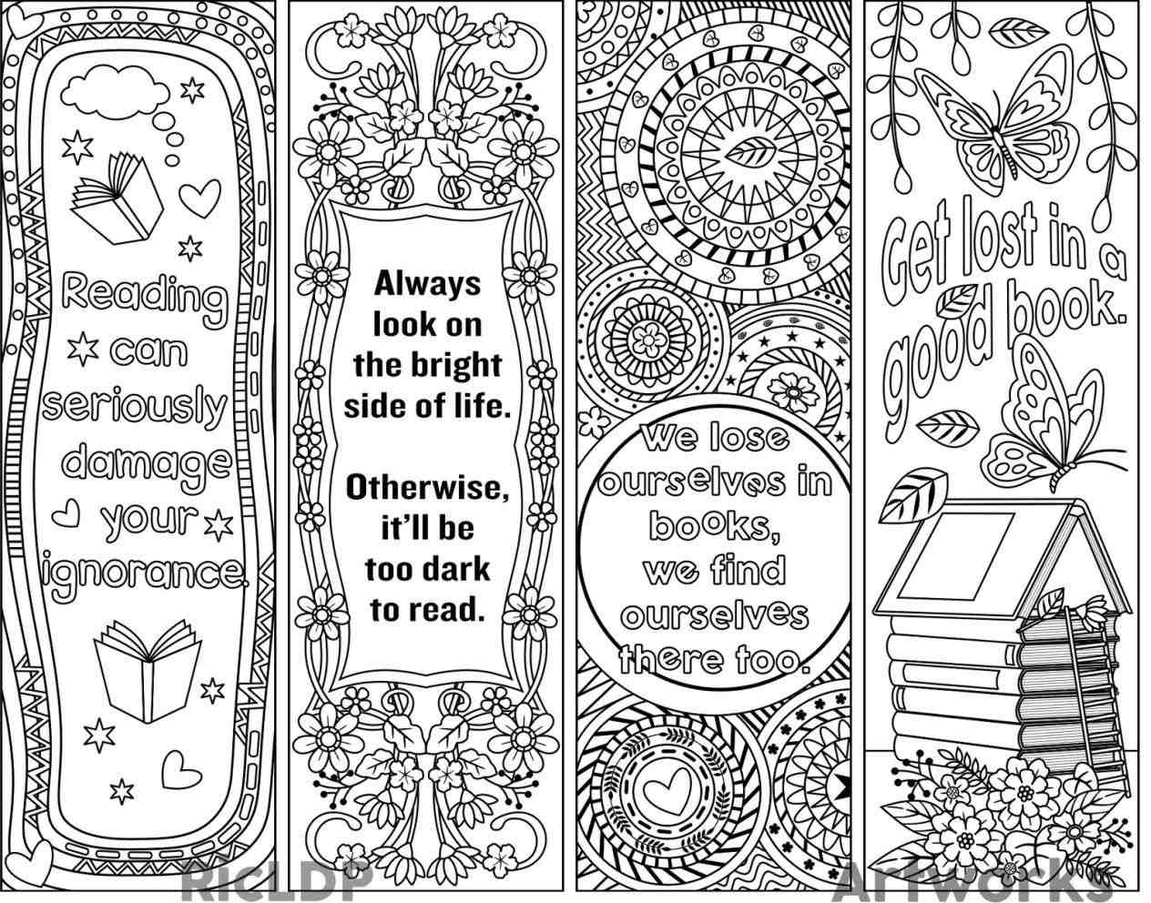 Beautiful Bookmark Template Collection