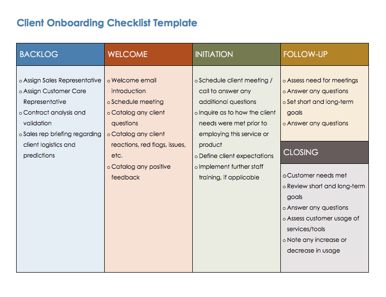 Employee Onboarding Checklist Template