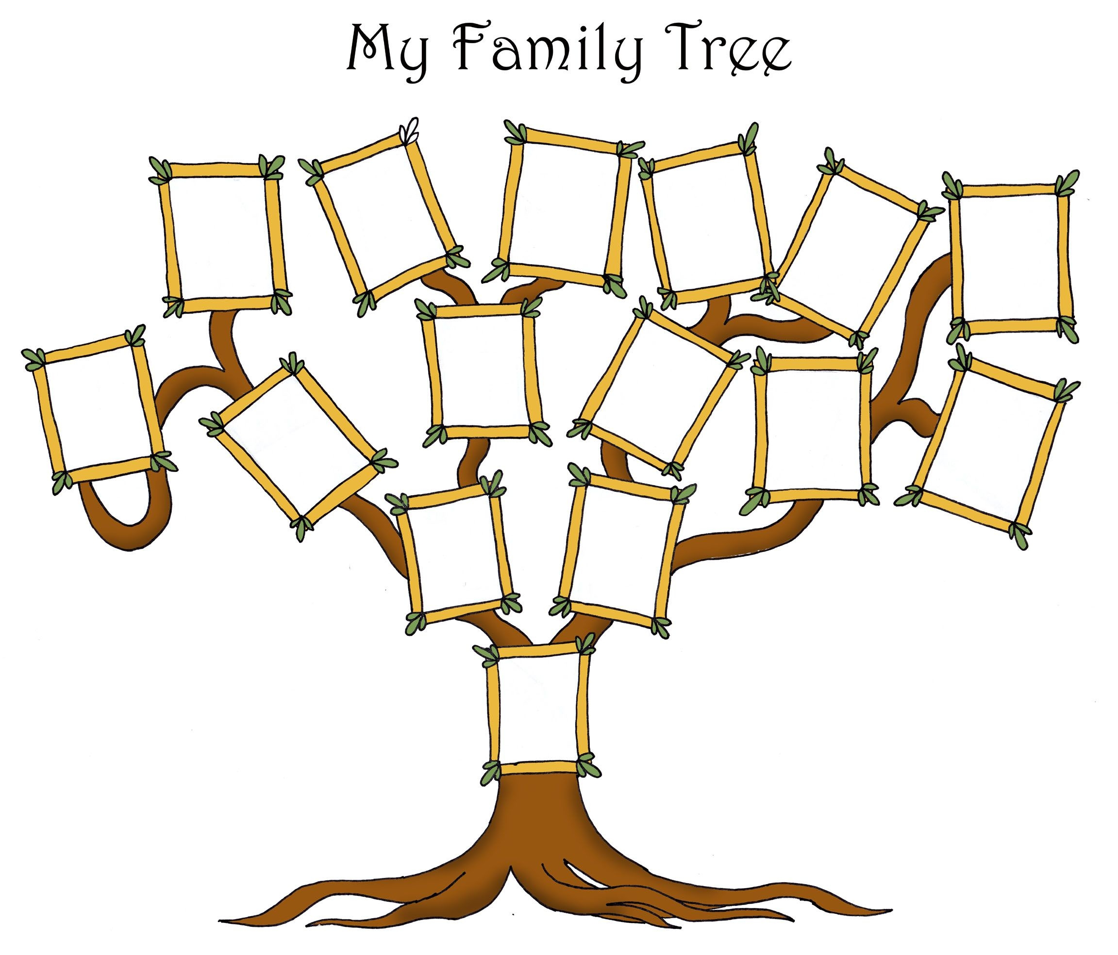This is a graphic of Adorable Family Tree Free Printable