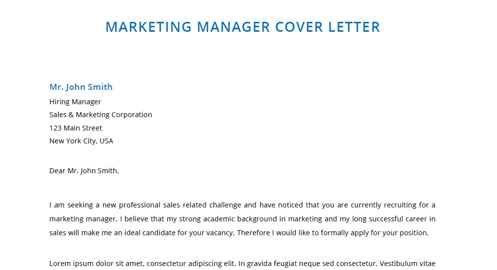 Best Marketing Letter Template Word & PDF