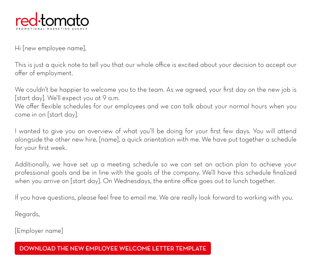 New Employee Welcome Email Reply Sample & Templates