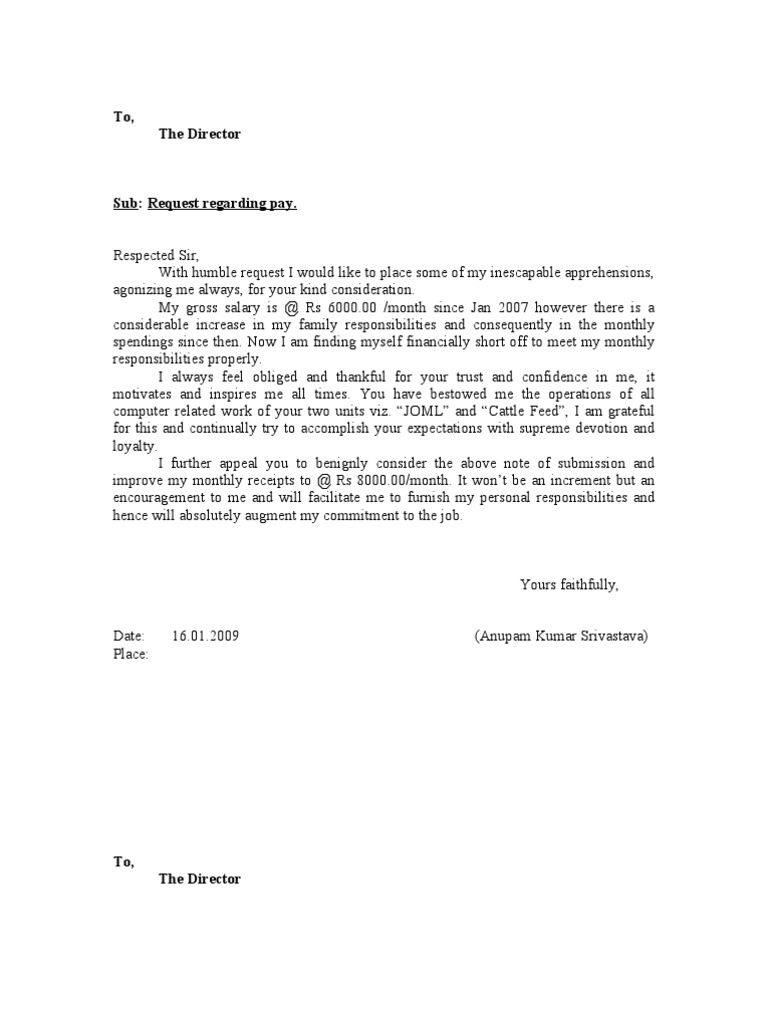 10 Best Salary Increment Letter Format for Employee in Doc ...