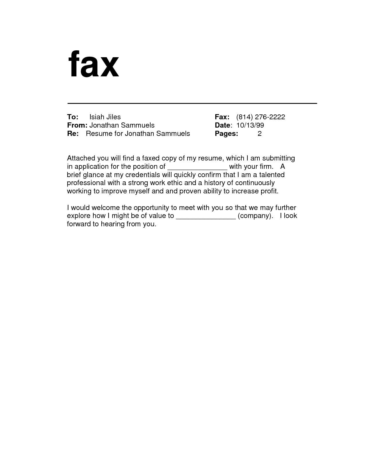 10 Fax Cover Sheet Template In Word Doc Professional Basic